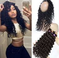 Virgin Curly 360 Frontal