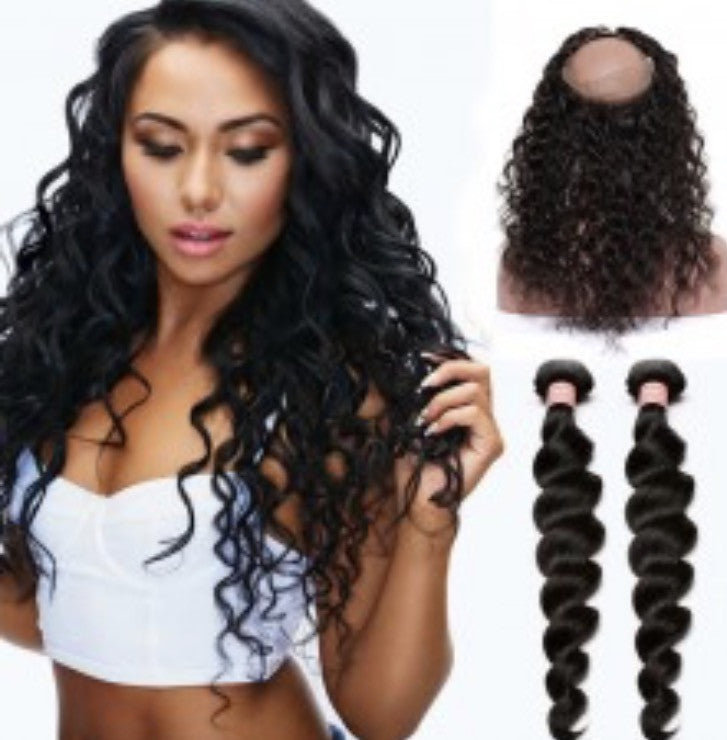 Virgin Loose Wave 360 Lace Wigs