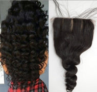 Virgin Loose Wave 4*4 Closure