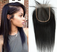Virgin Silky Straight 4*4 Closure
