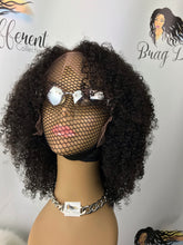 Peruvian Kinky Curly Lace Front Custom Unit