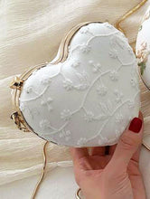 Load image into Gallery viewer, Enchanted Flower Heart Clutch