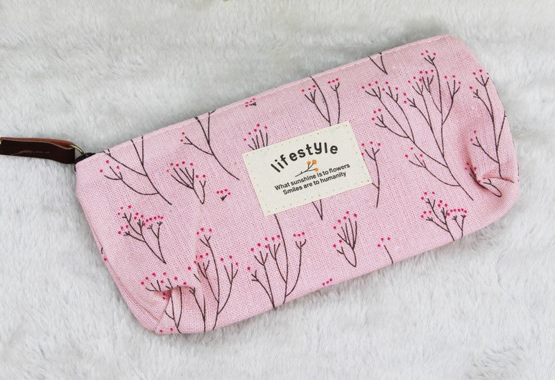 Floral Travel Cosmetics Case