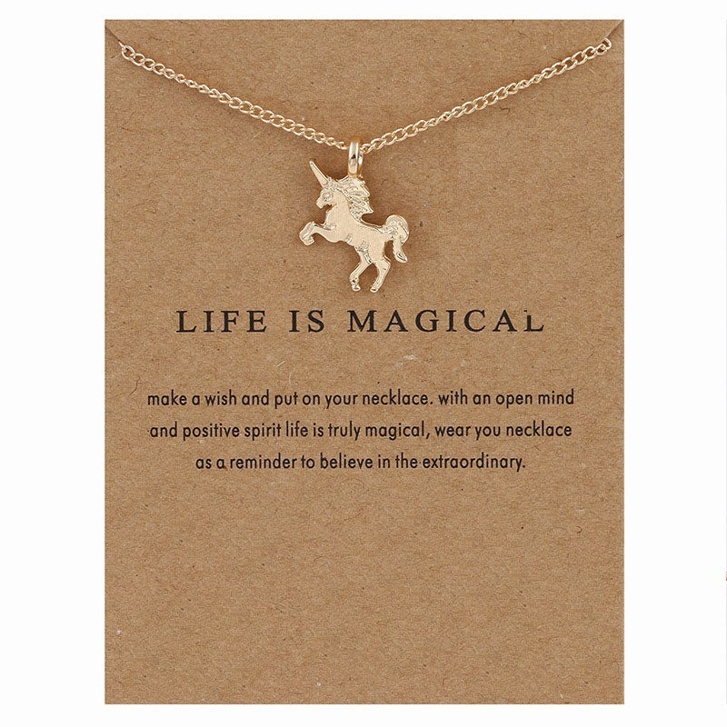 Unicorn necklace gold or silver simple women chain necklace unicorn necklace gold or silver simple women chain necklace christma ritual elements aloadofball Images