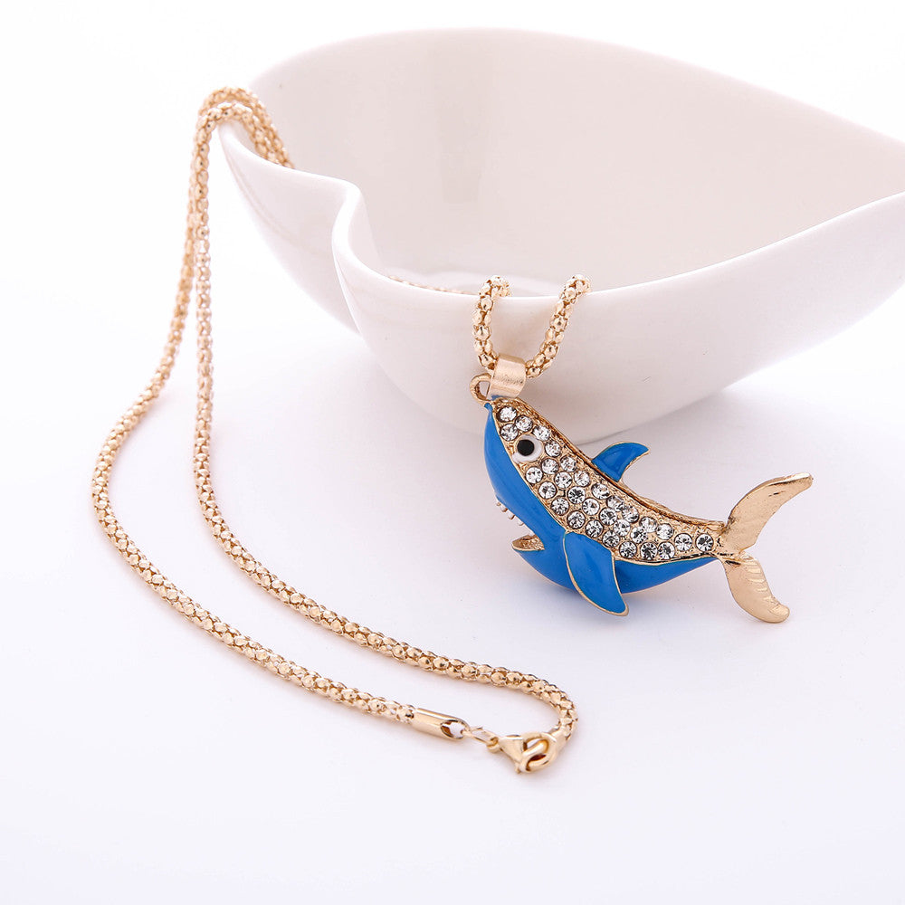 Shark necklace rhinestonegold choice of 3 colors spirit animal shark necklace rhinestonegold choice of 3 colors spirit animal cute ritual elements aloadofball Images