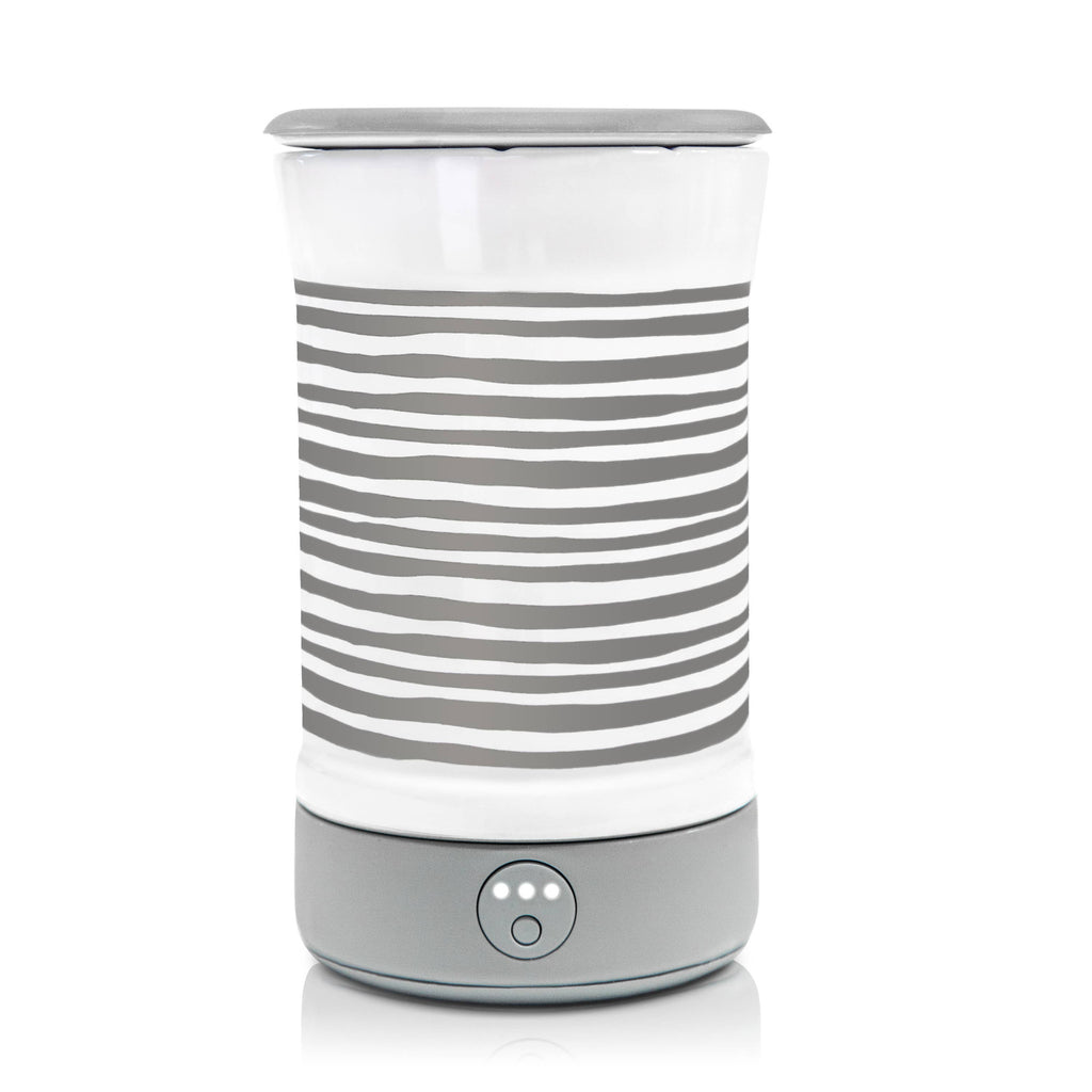 Signature Wax Warmer - Gray Stripe