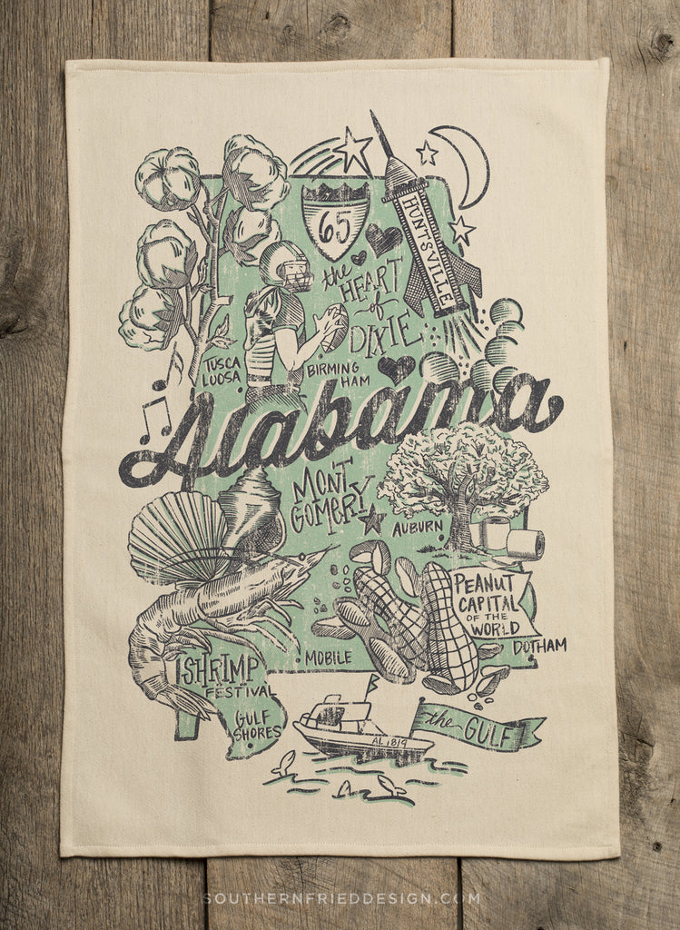 Alabama Hand Towel