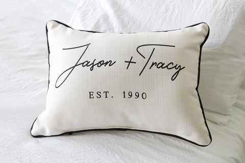 Holland Couples Name Pillow