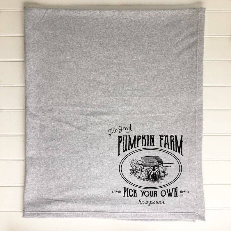 Pumpkin Farm Sweatshirt Blanket