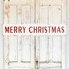 Embossed Merry Christmas Sign