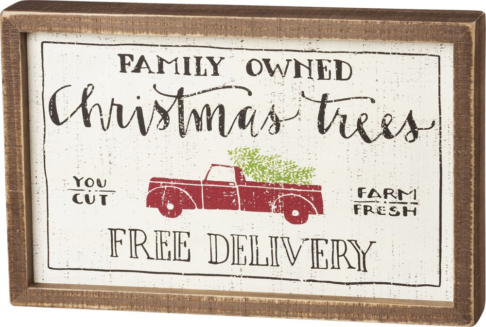 Family Owned Box Sign