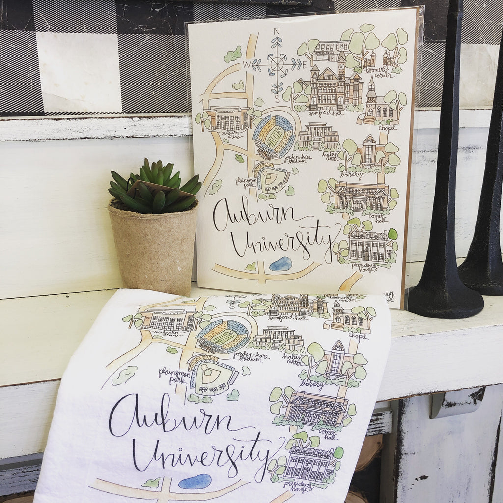 Auburn University Tea Towel