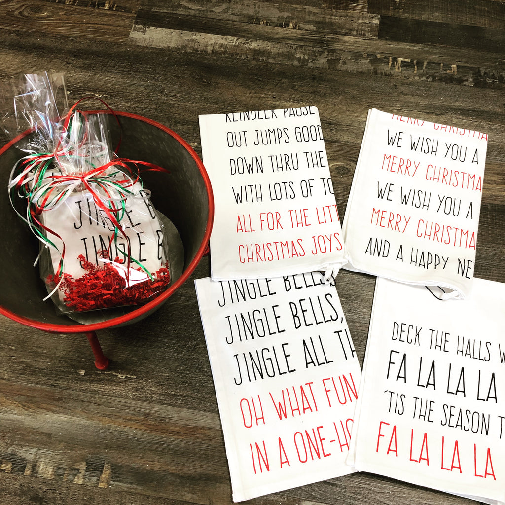 Holiday Song Tea Towel