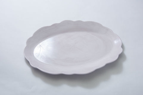 Scalloped Serving Oval