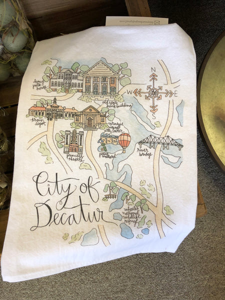 City of Decatur Tea Towel