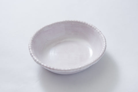 Bead Soup Bowl White