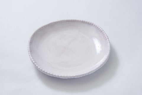 Bead Salad Plate White