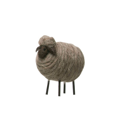 Wool Felt Sheep, Grey