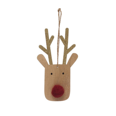 Wood Deer Ornament