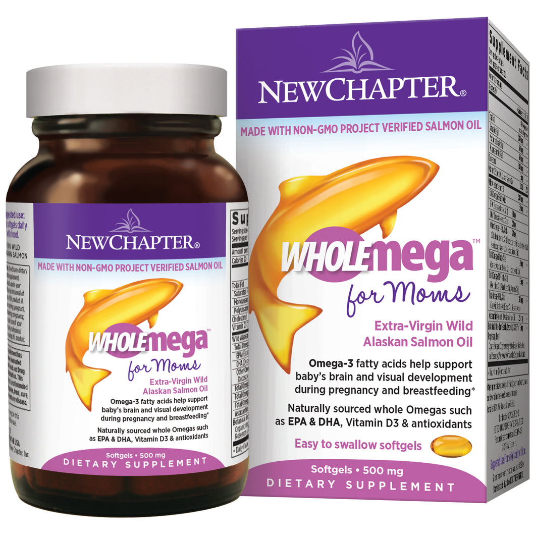 Wholemega for Moms Cold-pressed Fish Oil