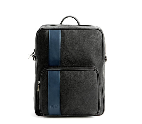 Gunas New York Vegan Leather Jared Backpack Black