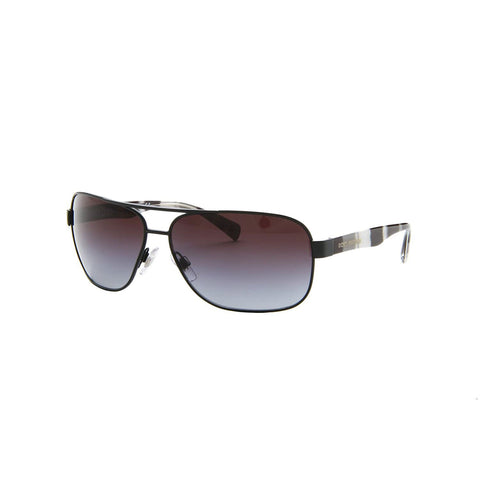 Dolce & Gabbana DG2120P Men's Sunglasses  Black Matte (Gray Gradient Lens) -64 mm  0DG2120P-12388G