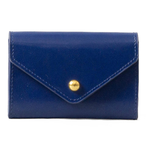paperthinks Leather Card Envelope Navy Blue
