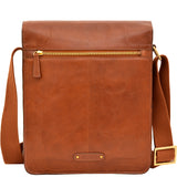 Hidesign Aiden Leather Medium Crossbody Messenger Tan