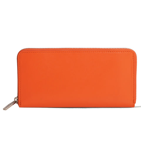 Paperthinks Leather Zip Long Wallet Tangerine Orange