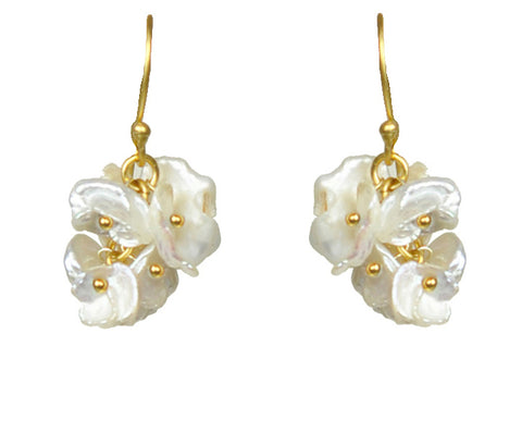 Gena Myint Keshi Pearl Cluster Earrings