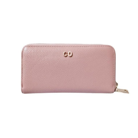 Personalised Leather Long Zip  Wallet | Blush