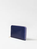 Paperthinks Leather Zip Long Wallet Navy Blue