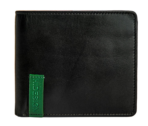 Hidesign Dylan 04 Leather Slim Bifold Wallet Black