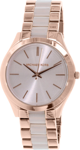Michael Kors Women's Slim Runway MK4294 Rose-Gold Stainless-Steel Quartz Fashion Watch