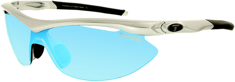 Tifosi Men's Mirrored Slip 0010108022 Steel Semi-Rimless Sunglasses
