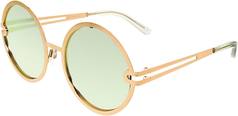 Quay Women's Mirrored Ukiyo QW-000153-GOLD/ROSE Rose Gold Round Sunglasses