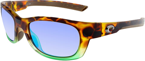 Costa Del Mar Polarized Trevally GT77OGMP Brown Rectangle Sunglasses