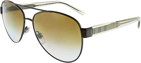 Burberry Women's Polarized BE3084-1212T5-57 Brown Aviator Sunglasses