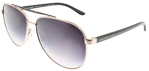 Michael Kors Women's Gradient Hvar MK5007-109936-59 Rose-Gold Aviator Sunglasses