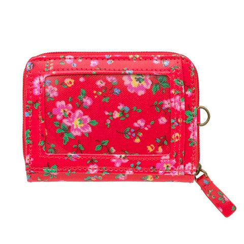 Cath Kidston Women's Zipped Travel Purse Wallet with D-ring Oc Bramley Spring Red 516884