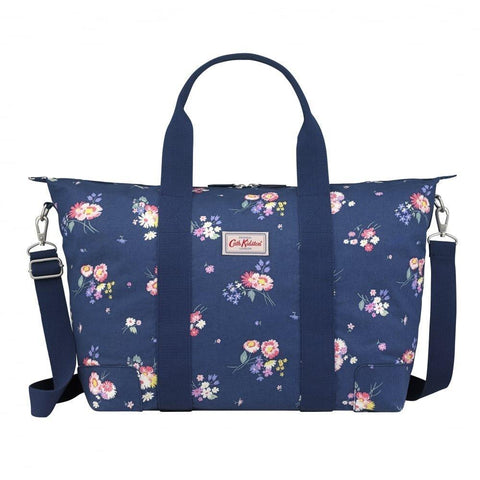 Cath Kidston Women's Foldaway Overnight Zipper Handbag Busby Bunch Navy Blue