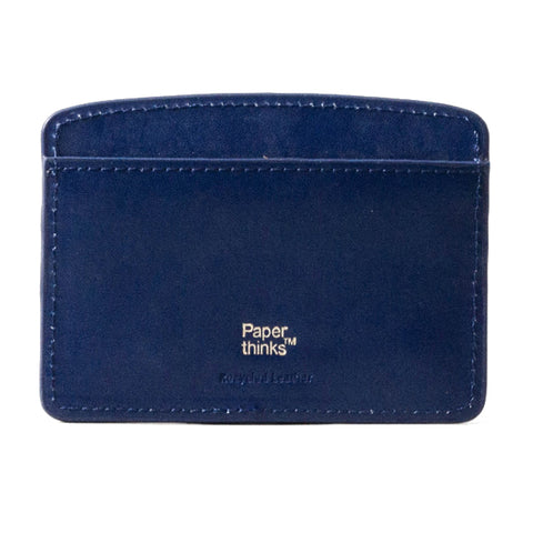 Paperthinks Leather Card Case Navy Blue