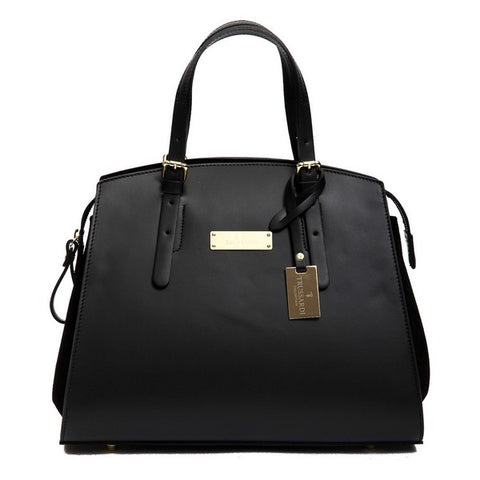 Trussardi Leather Black Satchel Bag