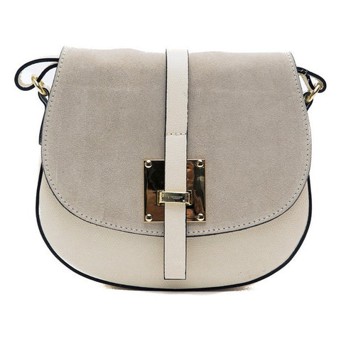 Trussardi Leather Cream Crossbody Shoulder Bag