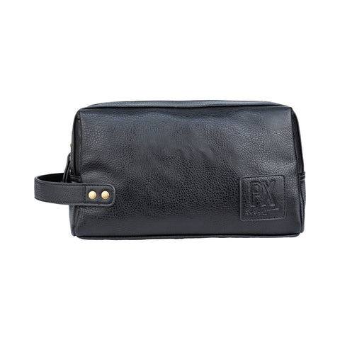 PX Black Fletcher Vegan Leather Dopp Kit Black