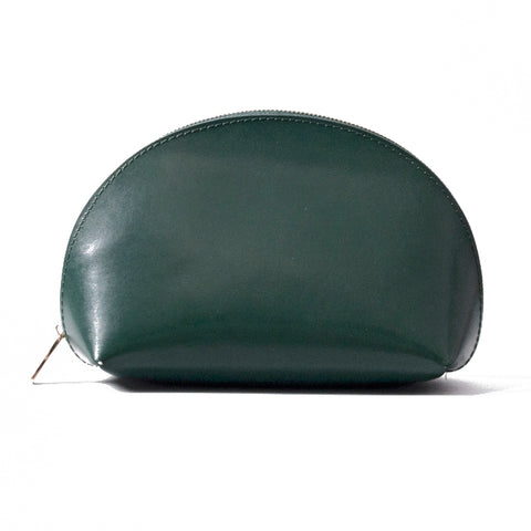Paperthinks Recycled Leather Cosmetic Case Deep Olive Green