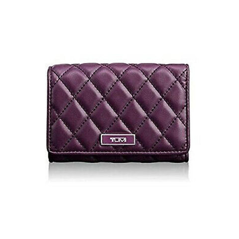 Tumi Montague Leather TRI Fold wallet Violet Purple