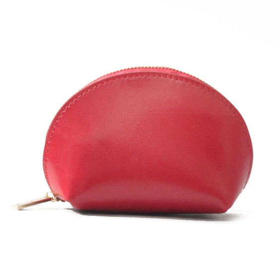 Paperthinks Recycled Leather Coin Pouch Scarlet Red