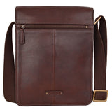 Hidesign Aiden Medium Leather Messenger Cross Body Bag Brown