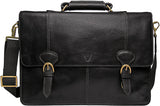 Hidesign Parker Leather Large Briefcase Black
